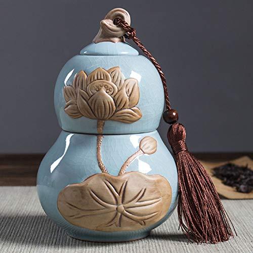 QYZLT Retro Ge Ofen Keramik geprägte Feuchtigkeit Dichtung niedliche Haustier Tiere Katzen und Hunde Memorial Funeral Supplies Dekoration,Blue -