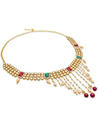 The Luxor American Diamond Pearl Waist Chain Belly Chain Kamarband For Women And Girls - B07F6B8T8T