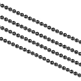 nbeads 100M unwelded bola de hierro cadenas de cuentas para hacer llavero etiquetas joyas Crafts, come en carrete, Bead: 1,5mm, 100m/rollo