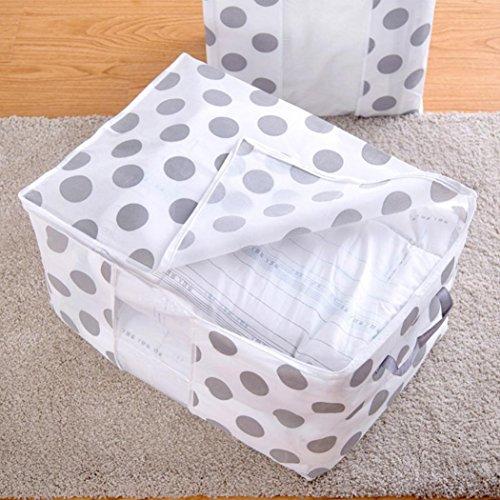 LtrottedJ Faltbare Aufbewahrungstasche für Kleidung, Decke, Decke, Schrank, Pullover, Organizer Box, Bambus, C, (L) X(W):78X42cm/30.7