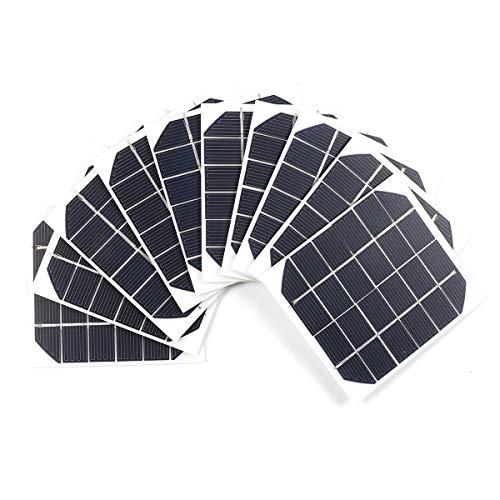 Spezifikationen: Typ: Monokristallines Solarpanel Jede Zelle Wattleistung: 2W Leistung: 6v 350ma Leerspannung: 7V Kurzschlussstrom: 400ma Verfahren: PET-Laminat, matt Produktgröße: 120 * 110 * 2,0 mm Menge: 10Pcs Geeignet für: Outdoor-Tests, Unterri...