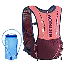 Lixada 5L Outdoor Hydration Pack Backpack with 1.5L Hydration Bladder For Camping Hiking Cycling Sport Bag (Pink)