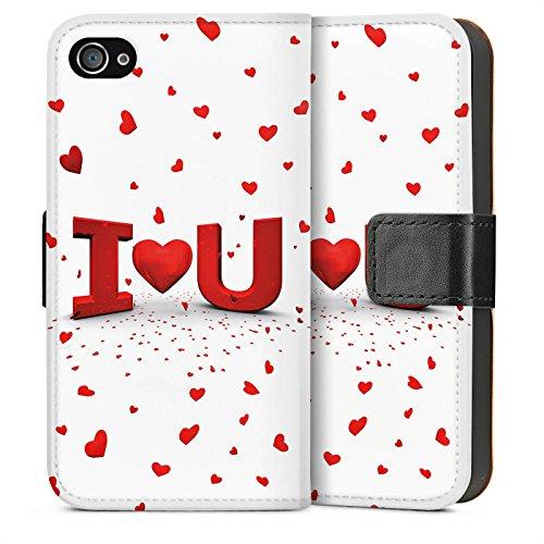 Apple iPhone 5 Housse étui coque protection Amour Amour C½ur Sideflip Sac