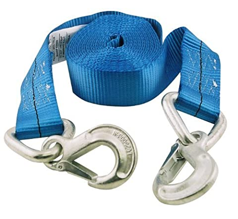 Erickson 59301 Blue 2 x 20' Tow Strap with Forged Safety Snap Hook, 10,000 lb breaking strength by Erickson