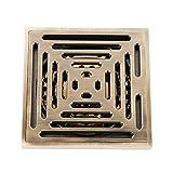 Messing und Edelstahl Bodenablauf Duschablauf, 100x100 Duschrinne, DN 40, Anti-korrosion Badablauf Geruchsverschluss