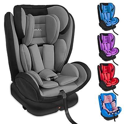 XOMAX XM-KI360 Kindersitz mit 360° Drehfunktion und ISOFIX I Liegeposition I 0-36 kg, 0-12 Jahre, Gruppe 0/1/2/3 I 5-Punkt-Gurt und 3-Punkt-Gurt I Bezug abnehmbar und waschbar I ECE R44/04...