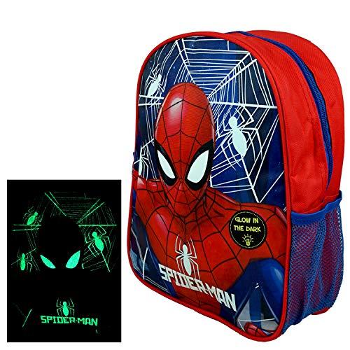 hi-lo Spider-Man Kinder-Rucksack nachtleuchtend 32x27x10cm - Kindergarten Turnbeutel...