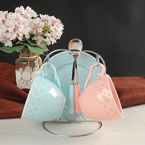 Dana Carrie Einfache Keramik Kaffeebecher sets antike Tee Roter Tee blumen Kaffee Tasse mit...