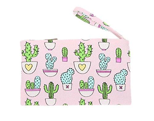 Weimay Cute Cactus patrón pequeño bolso cartera
