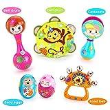 VATOS Baby Musikinstrumente Spielzeug Set Frühe Pädagogische Musikalisches Babyspielzeug 6 STÜCKE...