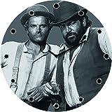 Vier Fäuste für ein Halleluja - Uhr aus Glas (30x30cm) - Bud Spencer®
