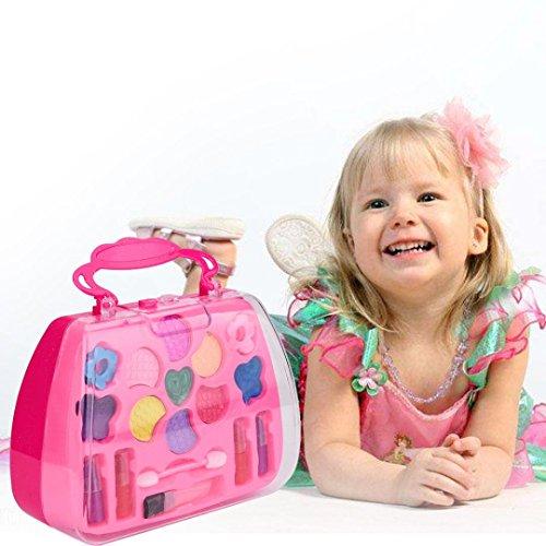 Omiky® Tragbare Prinzessin Girl's Pretend spielen Spielzeug Deluxe Make-up Palette Set nicht giftig für Kinder