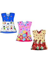 Sathiyas Girls 100% Cotton Tops (Pack of 3) (asvinf51)