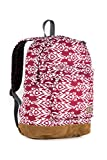 Everest Suede Bottom Pattern Backpack, Burgundy/White Ikat, One Size - Best Reviews Guide