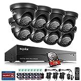 SANNCE Système de Surveillance 1080N HD TVI 8CH DVR Vidéo Surveillance avec 8 Caméras de Surveillance 720P Vision Nocturne Système de Sécurité avec Surveillance 1TB Disque Dur