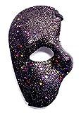 Inception Pro Infinite (Nero Maschera metà Volto - Fantasma dell'opera - Colorata con Glitter - Costume - Travestimento - Carnevale - Halloween - Cosplay