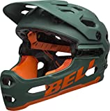 BELL Super 3R MIPS MTB Fahrrad Helm grün/orange 2019: Größe: M (55-59cm)