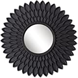 Art Street Black Hive Decorative Wall Mirror (Set Of 3)(Size - 9 X 9 Inch)