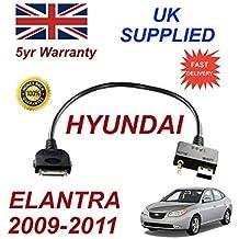 Hyundai Elantra 2009–2011iPod iPhone 3GS 44S 3.5mm de audio de conectividad & USB Cable