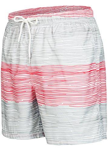 Herren Männer Badehose in vielen Farben | Badeshort | Bermuda shorts | Beachshort | Slim Fit | Schwimmhose | Boardshort | Jungen (M, Grau/Rot) Männer Badehose Billabong