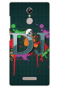 AMAN D J With Colour 3D Back Cover for Gionee S6s