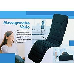 """Elektrische Massagematte""""Vario de Luxe"""" Massageauflage Vibrationsmatte Massageliege Wärmematte Luxus Massage Matte Auflage Gerät"""