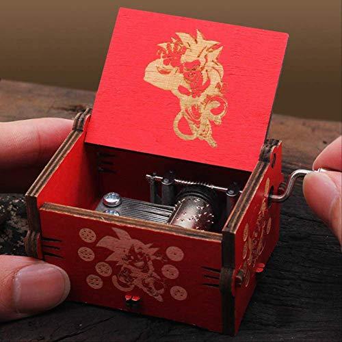 IANSISI Caja Musica Niña Manivela De Madera Tallada Queen Music Box Game of Thrones Star War Christmas Birthday Esfera del dragón