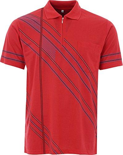 BeLucky Herren Poloshirt Medium Rot