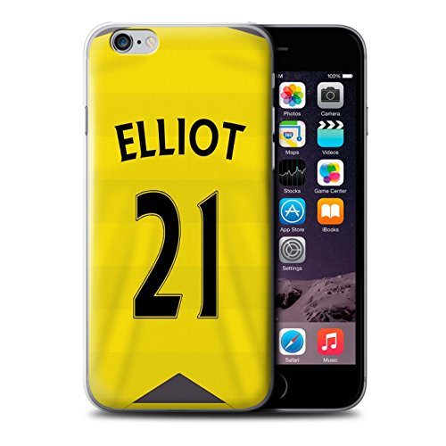 Offiziell Newcastle United FC Hülle / Case für Apple iPhone 6+/Plus 5.5 / Pack 29pcs Muster / NUFC Trikot Home 15/16 Kollektion Elliot