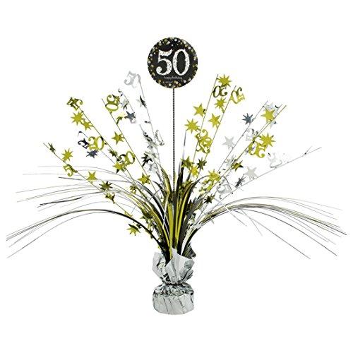 NET TOYS Große Tischkaskade 50. Geburtstag Deko Kaskade Happy Birthday Tischdekoration Geburtstagsdeko (50. Geburtstag Tischdekoration)