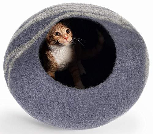 Ruitx Katzen Höhlen Bett, Hochwertiges Filz Katzen Höhlen Bett, Für Gemütliches Versteck, Katzen Und Kätzchen