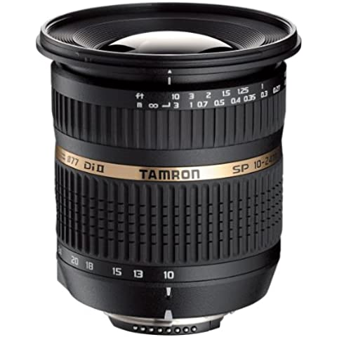 Tamron SP AF10-24mm F/3.5-4.5 Di II LD Aspherical [IF] - Objetivo (SLR, 12/9, ultra-ancha, Nikon, Negro, 8,32 cm)