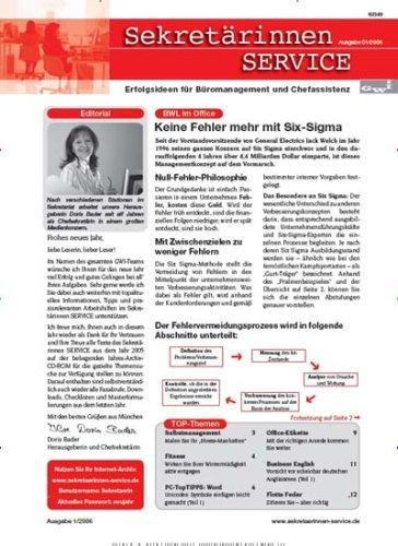 Sekretärinnen SERVICE - Büromanagement und Chefassistenz [Jahresabo]