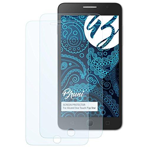 Bruni Schutzfolie für Alcatel One Touch Pop Star Folie, glasklare Displayschutzfolie (2X)