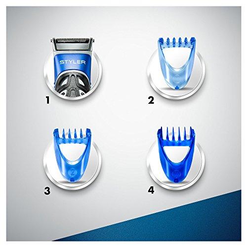Gillette Fusion ProGlide Styler Rasoio a Batteria con Regolabarba, Regola, Rade e Rifinisce, con 1 Lametta di Ricambio - 9