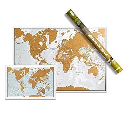 Scratch the World® - map print