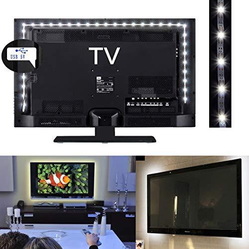XingYue Direct Lichtband, 1 m, 2 m, 3 m, 5 V, weiße LEDs, Stromversorgung über USB, TV, PC, Hintergrundbeleuchtung, Weihnachtsbeleuchtung