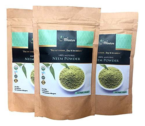 3 x 100 g (300 g) polvere di neem pura 100% naturale gmp halal fda cert