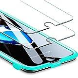 ESR Panzerglas Folie [2 Stück] Displayschutz kompatibel mit iPhone 8/7/6/6S - 9H Display Schutzfolie [Face ID kompatibel] mit Montageset ohne Blasen für das iPhone 8/7/6/6S 4,7