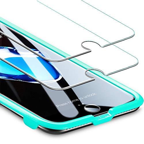 """ESR Panzerglas Folie [2 Stück] Displayschutz kompatibel mit iPhone 8/7/6/6S - 9H Display Schutzfolie [Face ID kompatibel] mit Montageset ohne Blasen für das iPhone 8/7/6/6S 4,7\"""""""
