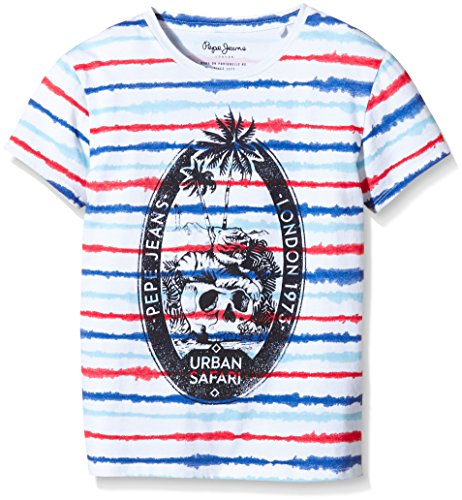 pepe-jeans-taro-t-shirt-a-rayures-garcon-multicolore-multi-fr-16-ans-taille-fabricant-16-ans