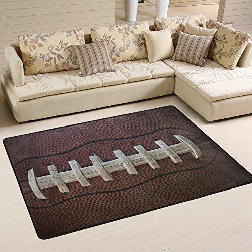 Naanle American Football Laces Rutschfester Teppich für Wohnzimmer, Esszimmer, Schlafzimmer, Küche, 50 x 80 cm, Multi, 120 x 180 cm(4' x 6') -
