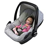 BAMBINIWELT Ersatzbezug für Maxi-Cosi PEBBLE 5-tlg, Bezug für Babyschale, Komplett-Set STERNE HELLGRAU *NEU*