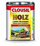 CLOUsil Holzlasur Holzschutzlasur für außen edelgrau dunkel Nr. 26, 0.75L: Wetterschutz, UV-Schutz, Nässeschutz und Schimmel für alle Holzarten - Markenqualität aus Deutschland in verschiedenen Farben