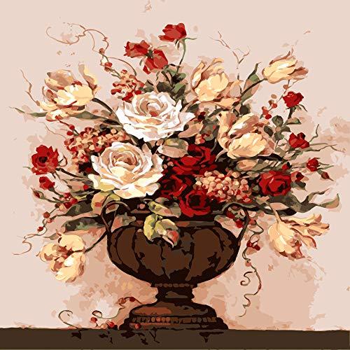 zlhcich Paesaggio Fiore Luna Pittura a Olio ciliegina sulla Torta 40 * 50 Co