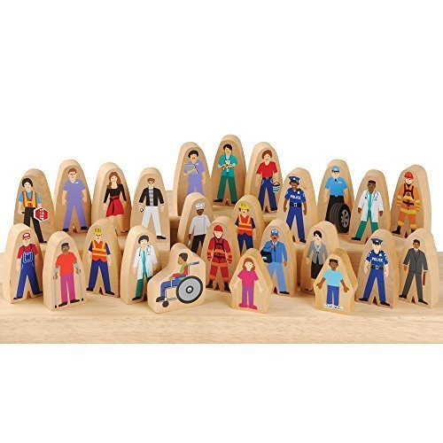 CP Toys Wooden Community Helpers for Block Play / 25 Pc. Set by Constructive Playthings