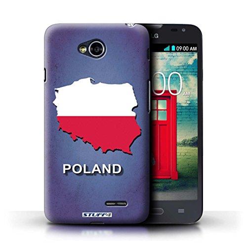 Kobalt® Imprimé Etui / Coque pour LG L70/D320 / Suisse/Swiss conception / Série Drapeau Pays Pologne/Polonais