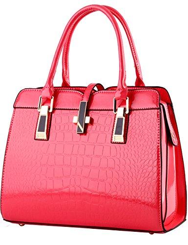 2b41c588a057b Menschwear Damen Handtasche Marken Handtaschen Elegant Taschen Shopper  Reissverschluss Frauen Handtaschen Rot Rosa