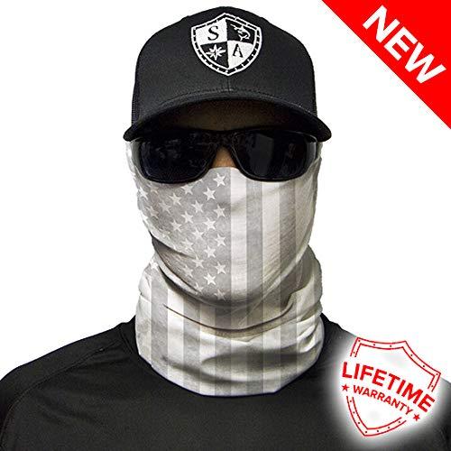 SA Société Whiteout Drapeau américain Face Shield/Loop Écharpe/Bandana/Cagoule. Multifonction/Headwear/écharpe. SPF 40. activité de Plein air Masque. Pêche/Moto etc.