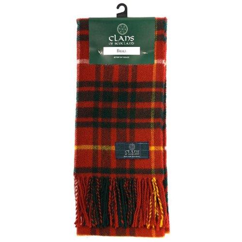 Clans of Scotland Pañuelo de tartán escocés de lana pura Rojo rosso Talla única